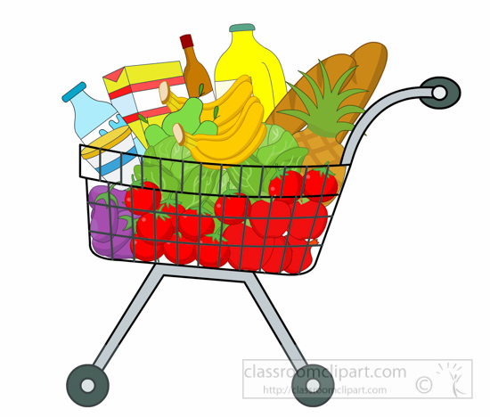 Food shopping clipart.