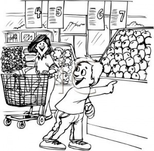 Grocery Store Clipart Black And White.