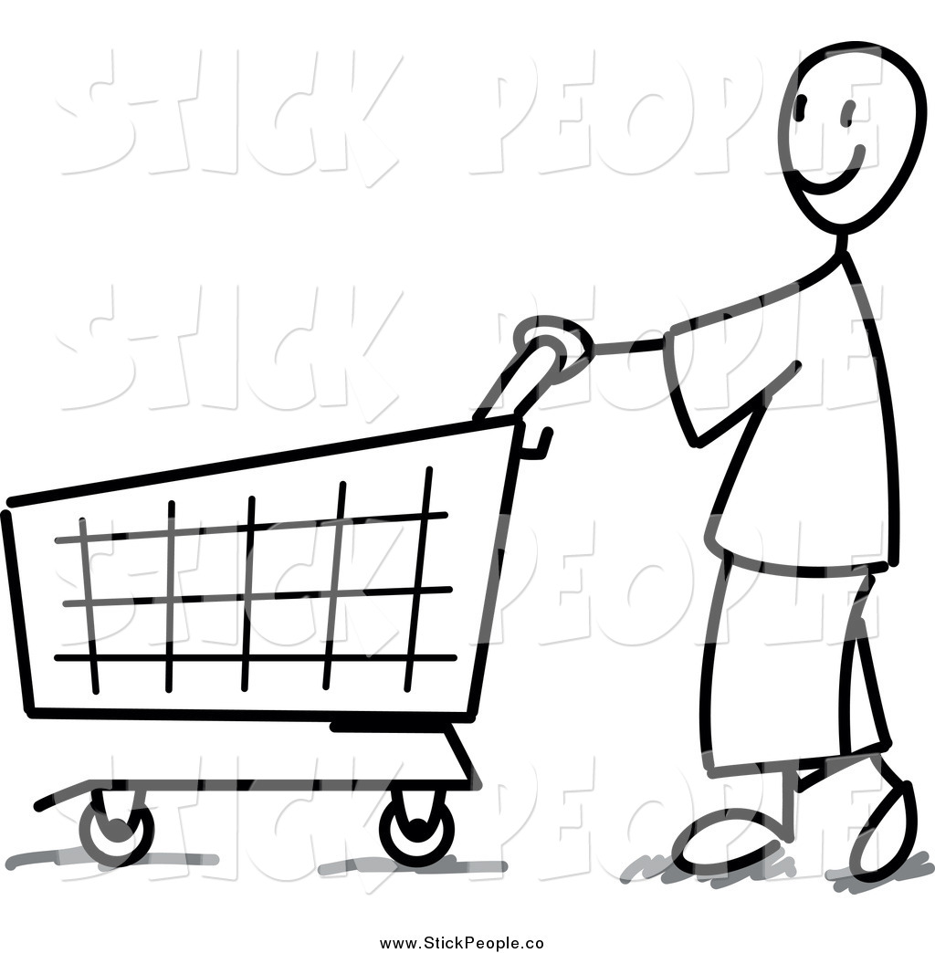 Shopping Clipart Black And White.