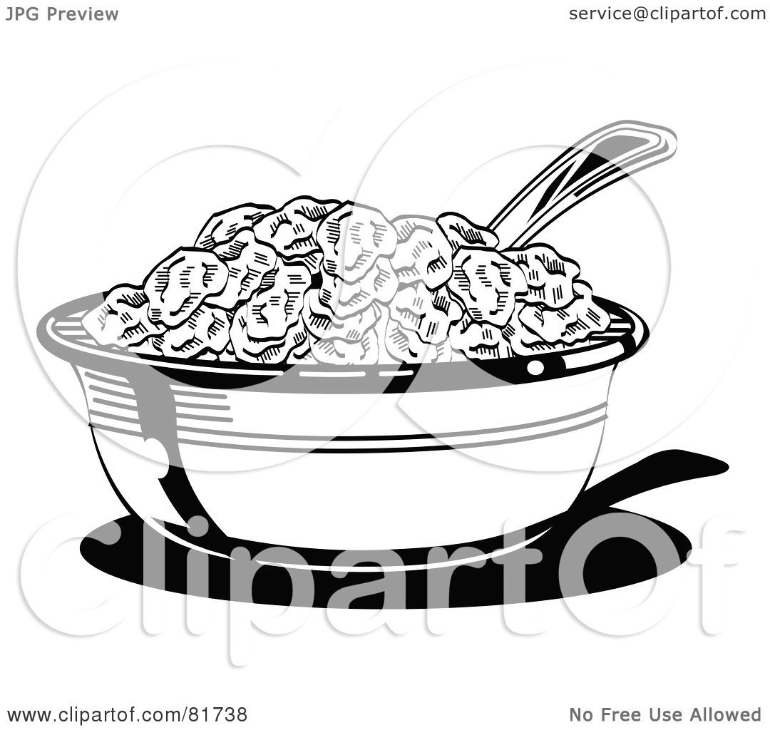 Cereal bowl with spoon clipart