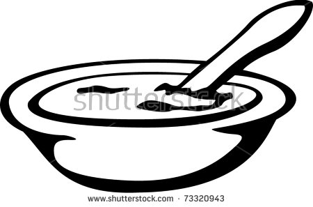 Food Bowl Spoon Stock Vector 73320943.