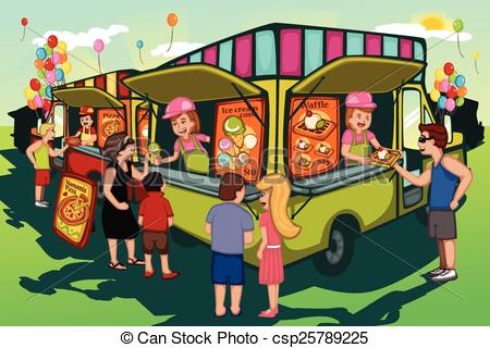 Food stall clipart #9