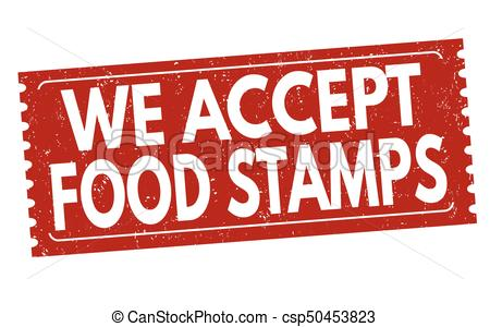 We accept food stamps sign or stamp.