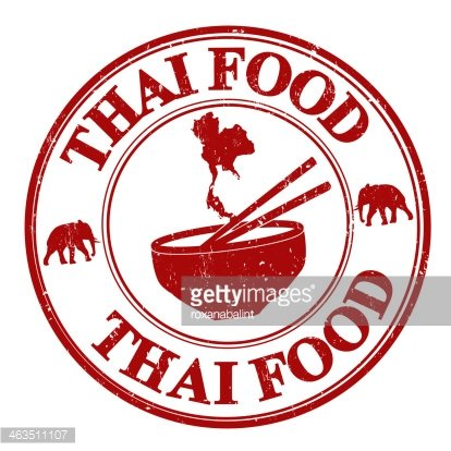 Thai food stamp Clipart Image.