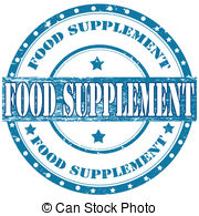 Vector Clip Art of Food supplement stamp.