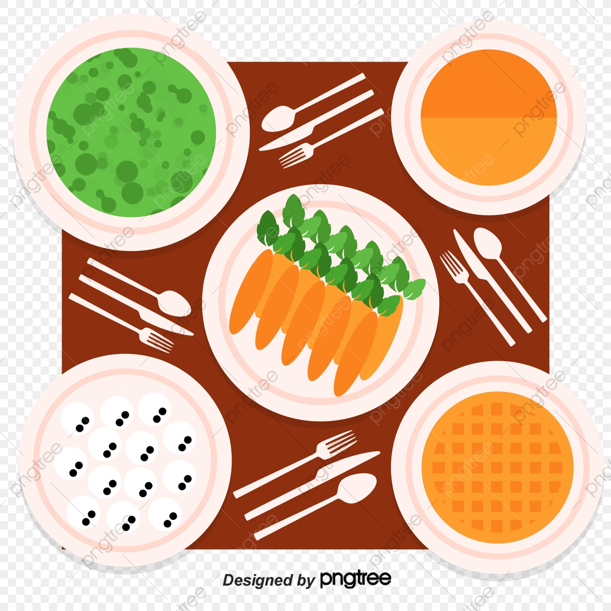 A Large Table With Food, Table Vector, Food Vector, Food Clipart PNG.