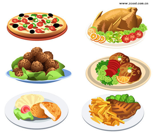 Delicious food clipart.