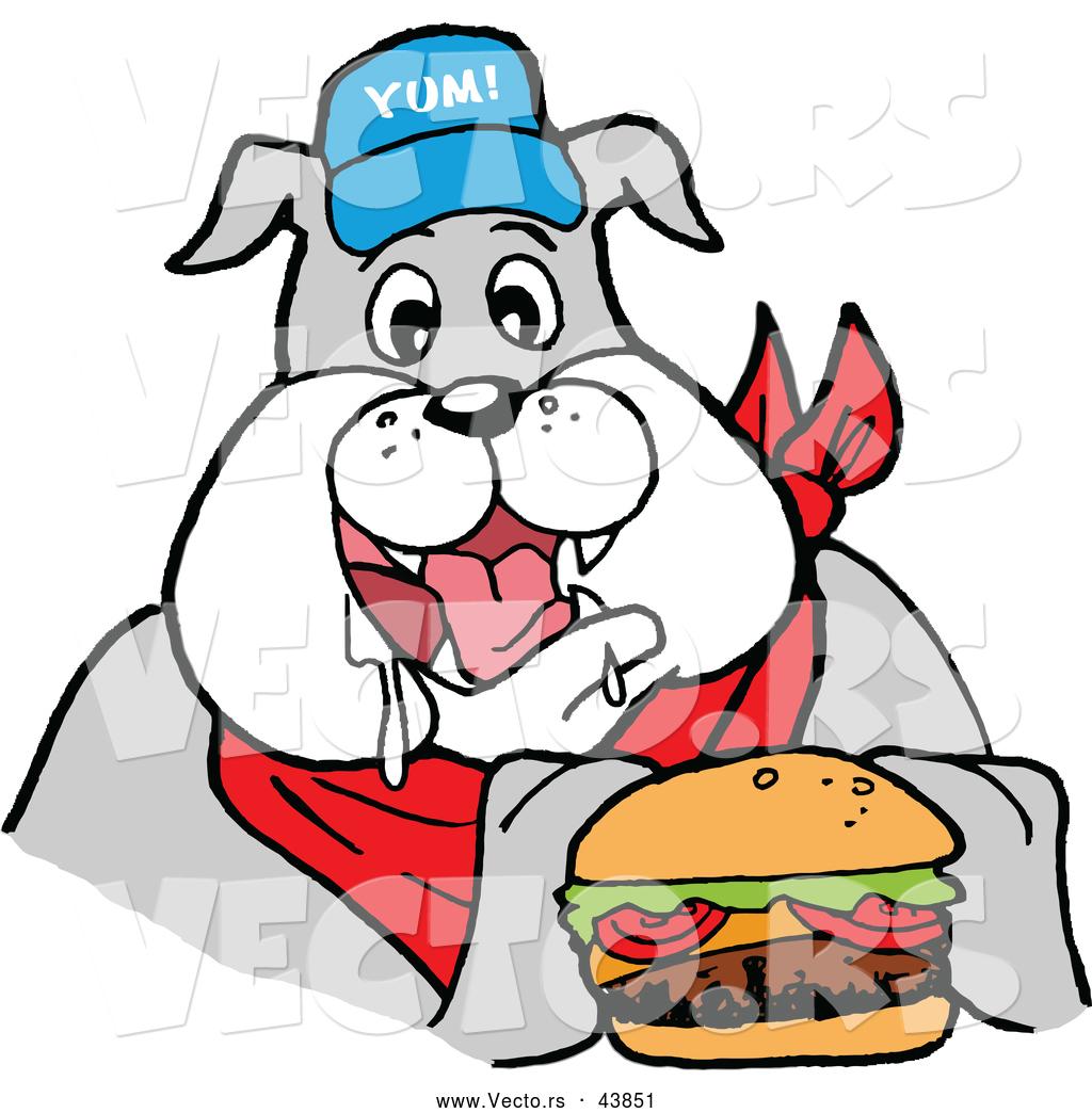 Bulldog food clipart.