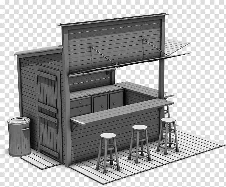 Kiosk Food 3D modeling DAZ Studio Rendering, food Texture.