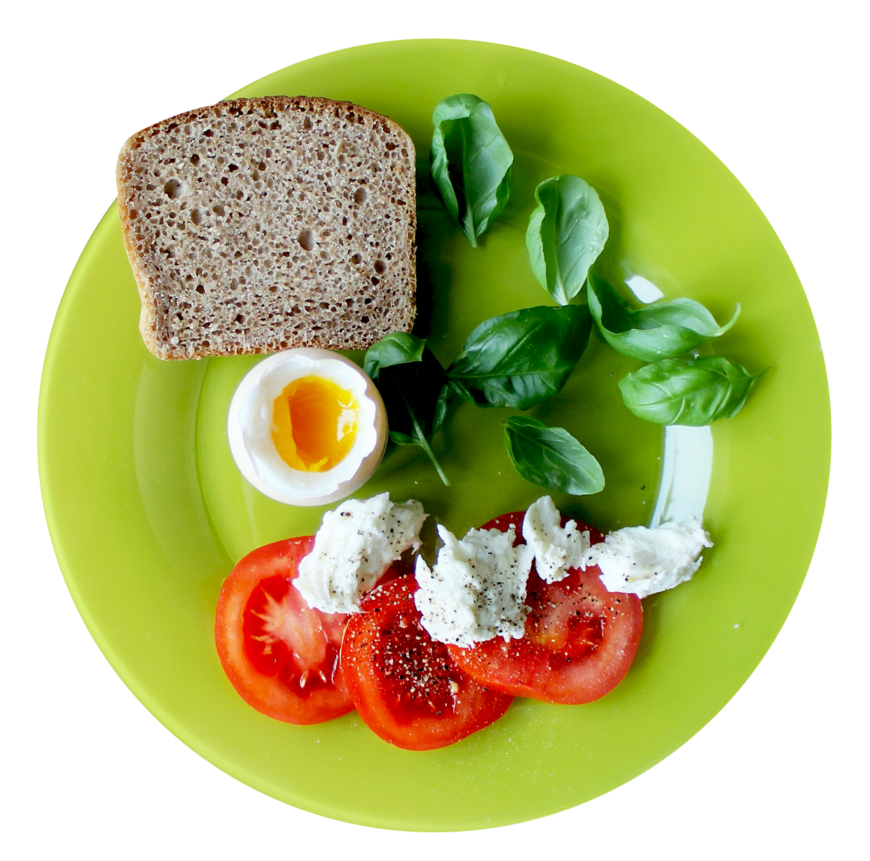 Food Plate Top View PNG Image.