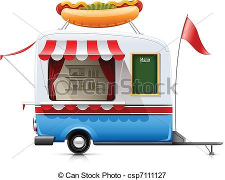 Food trailer Vector Clipart Illustrations. 472 Food trailer clip.