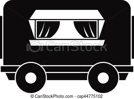 Vector Clipart of Food trailer icon, simple style.