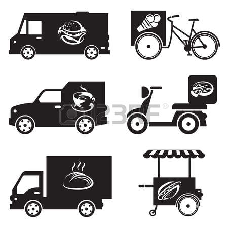 678 Food Trailer Stock Vector Illustration And Royalty Free Food.