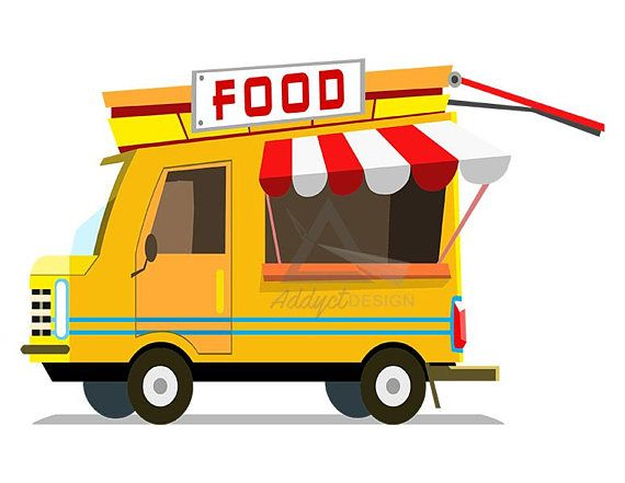 Food truck clipart, foodtruck, fast food, fastfood, burger clipart.