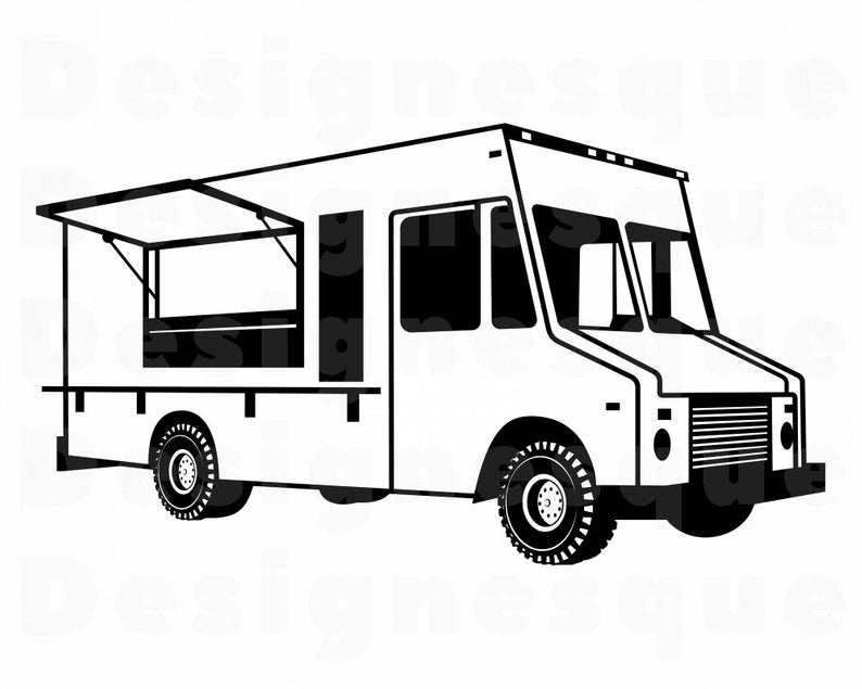 Food Truck SVG, Food Truck Clipart, Food Truck Files for Cricut, Food Truck  Cut Files For Silhouette, Food Truck Dxf, Png, Eps, Vector.