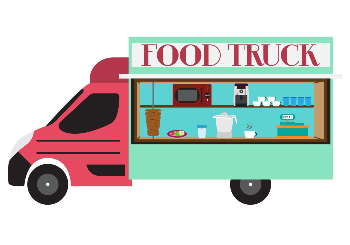 Free clipart food truck.