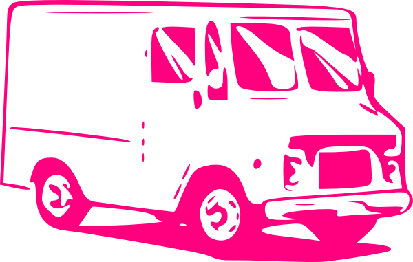 Food Delivery Truck Clipart.