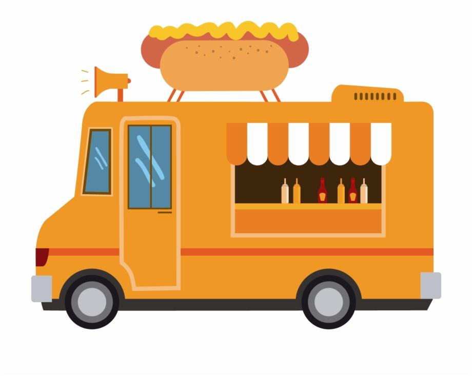 Fast Food Hamburger Pizza Food Truck.