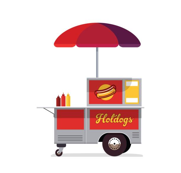 Best Street Food Vendor Illustrations, Royalty.