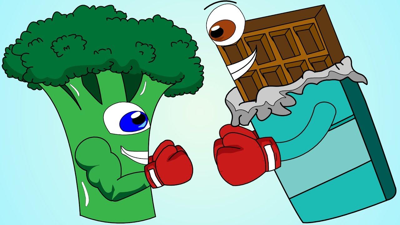 Healthy Food Vs Junk Food Song!.