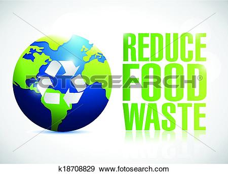 Clip Art of reduce food waste sign illustration design k18708829.