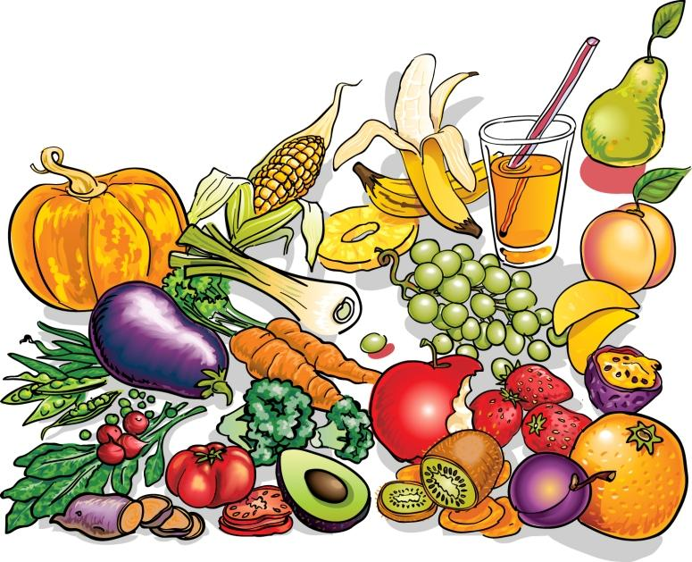 Healthy Foods Cartoon Clipart.