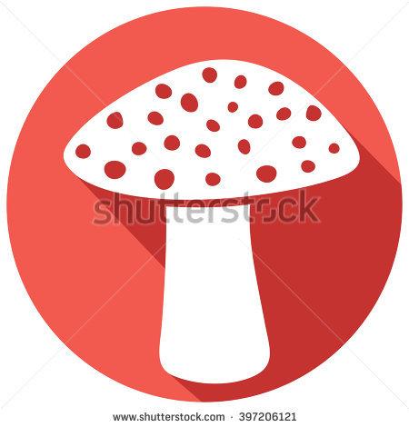 Mushroom Label Design Stock Vector 80398375.
