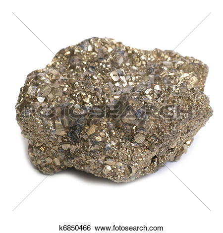 Stock Images of Nugget on fool's gold k6850466.