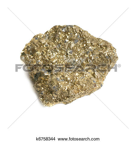 Stock Photo of Nugget on fool's gold k6758344.