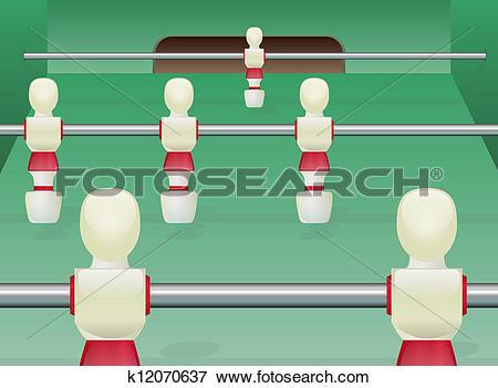 Clip Art of Foosball Table Soccer k12070637.