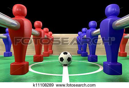 Stock Photograph of Foosball Table Closeup k11108289.