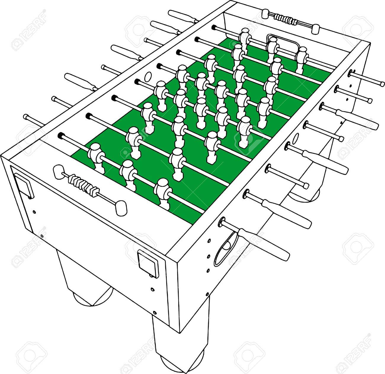 Foosball table clipart.
