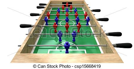 Stock Photography of Foosball Table High Top View.