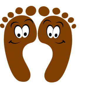 Happy feet clip art.