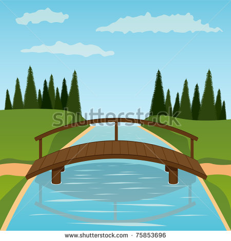 Wooden Bridge Clipart.