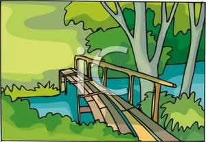 Bridge Over A Creek.