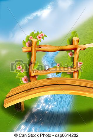 Footbridge Clipart and Stock Illustrations. 144 Footbridge vector.