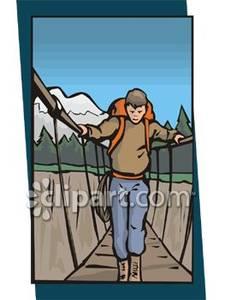 Walking Across a Suspension Foot Bridge.