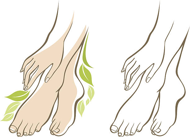 Best Foot Care Illustrations, Royalty.