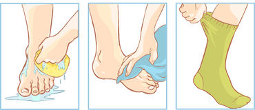 Foot Care Clip Art.