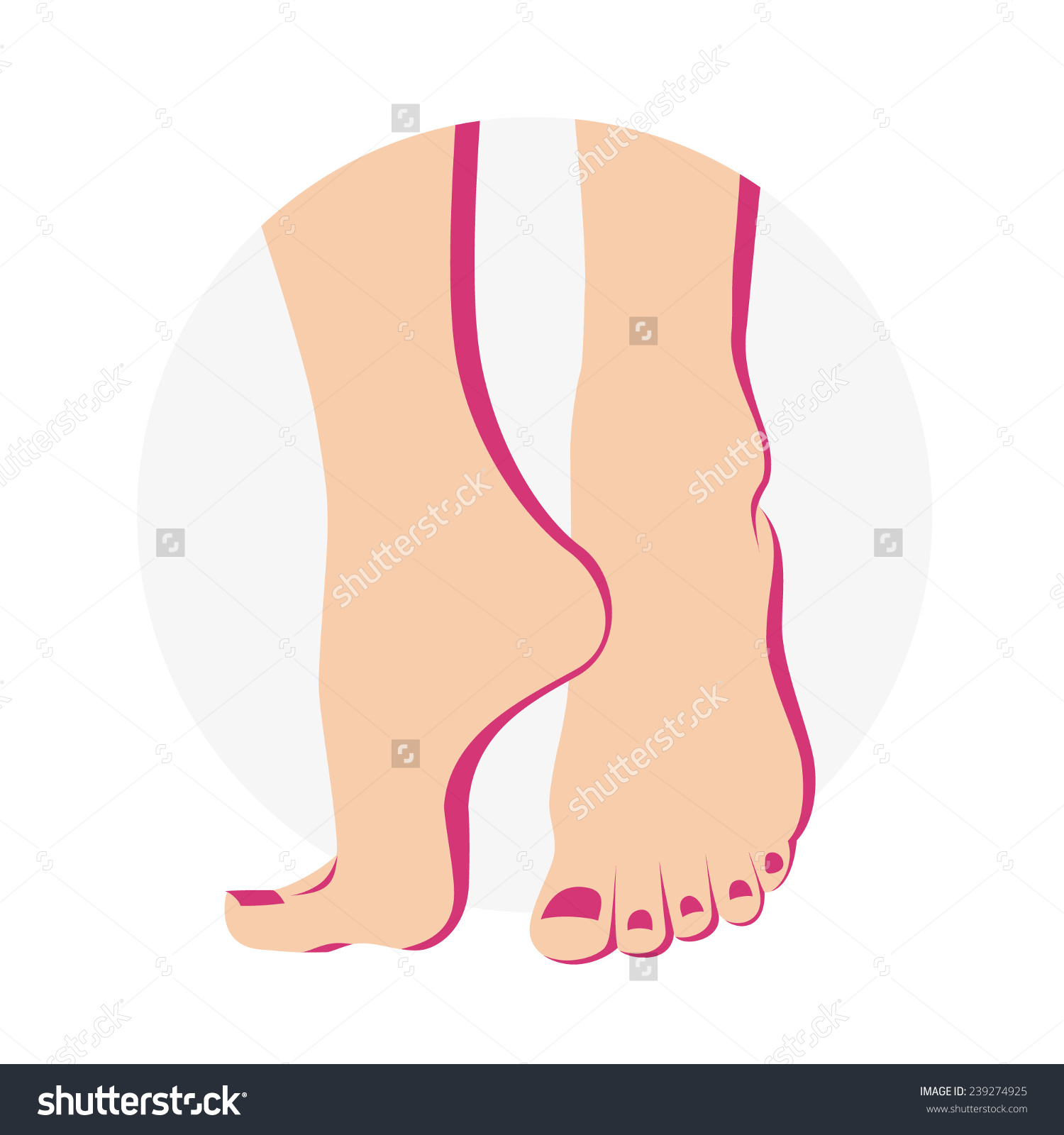 Pedicure Foot Care Icon Stock Vector 239274925.