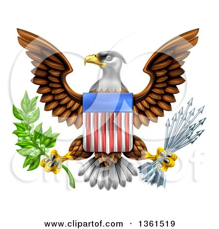 Clipart of Black and White Reaching Eagle Talons.