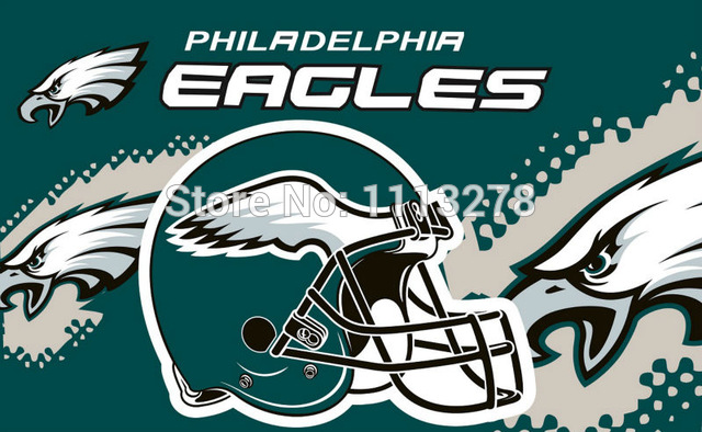 NFL Philadelphia Eagles 3x5 feet polyester flags house divided w.