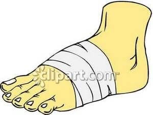 Foot Injury Clipart.