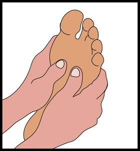 Foot massage clipart.
