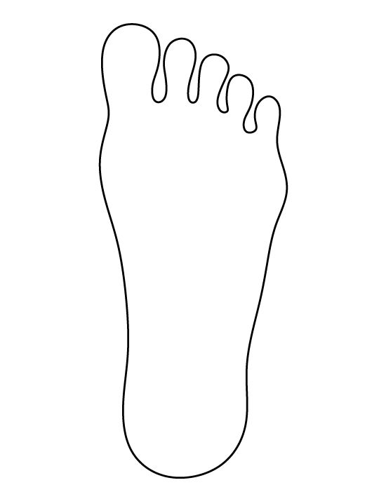 Feet Template Free Download Clip Art.