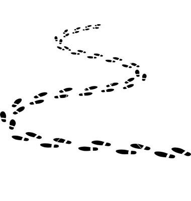 Path clipart black and white.
