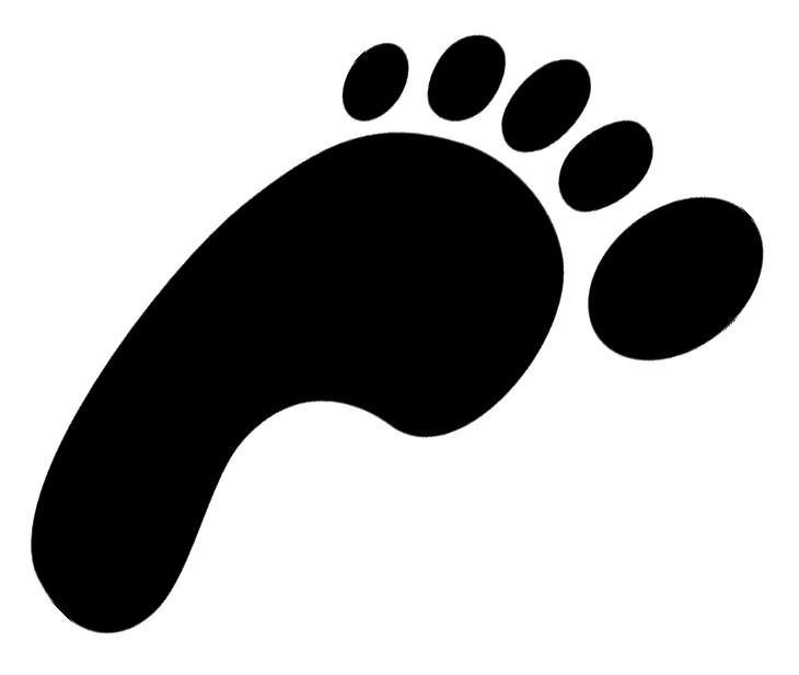 Dinosaur Footprint Clip Art.