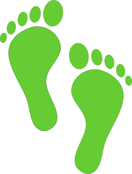 Walking Footprint Clipart.