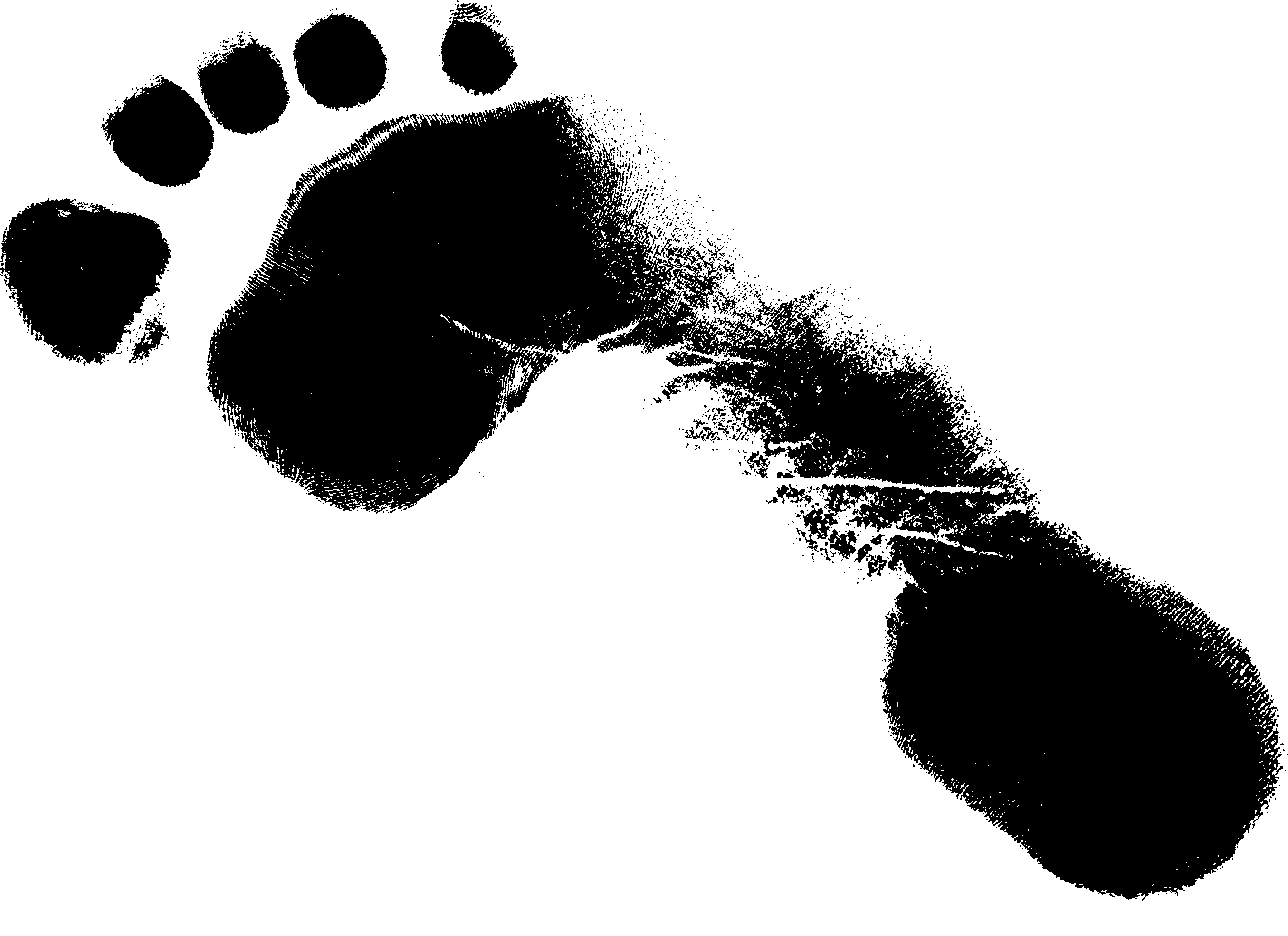 9 Grunge Footprint (PNG Transparent).